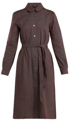 A.P.C. Coco Striped Cotton Jersey Dress - Womens - Burgundy Multi