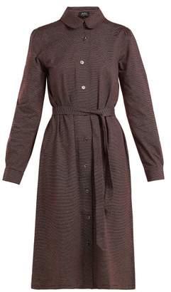 A.P.C. Coco Striped Cotton Jersey Dress - Womens - Burgundy Multi