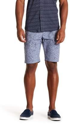 Line & Dot WRK Tristen Printed Line Dot Shorts