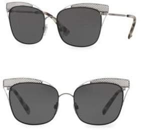 Valentino 55MM Tinted Metal Sunglasses