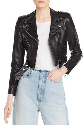 Veda Baby Jane Smooth Leather Moto Jacket