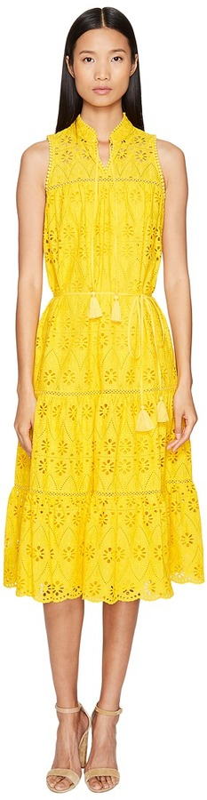 Kate Spade New York - Spice Things Up Eyelet Patio Dress Women's Dress