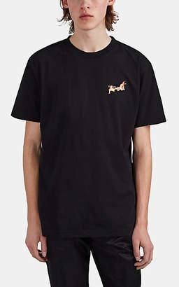 Marcelo Burlon County of Milan Men's Flaming-Basketball Cotton T-Shirt - Black