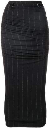 Max Mara pinstriped fitted skirt