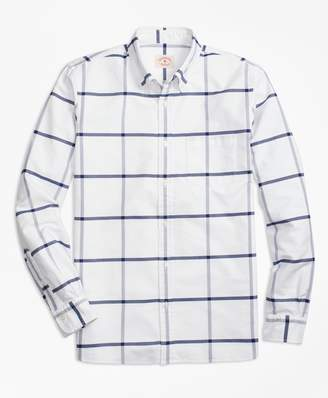 Brooks Brothers Windowpane Oxford Cotton Sport Shirt