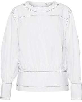 Sonia Rykiel Pleated Cotton-Poplin Top