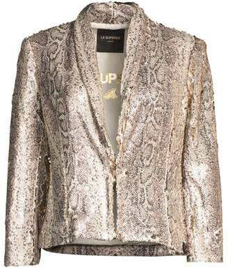 95924a10ff34 Call Of The Wild Le Superbe Sequin Snake Print Jacket