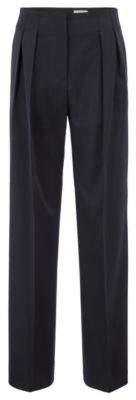 BOSS Hugo Gallery Collection wide-leg pants Hollywood waist 6 Open Blue