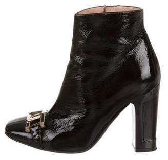 Missoni Patent Leather Square-Toe Boots