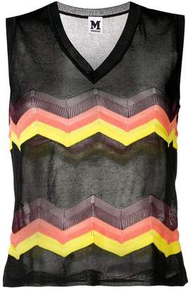 M Missoni zigzag pattern knitted top