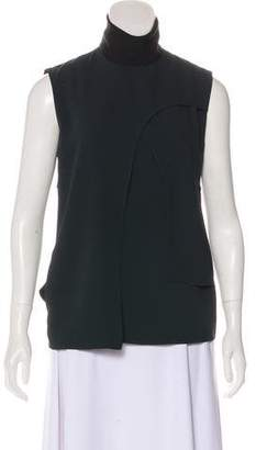 CNC Costume National Mock Neck Sleeveless Top
