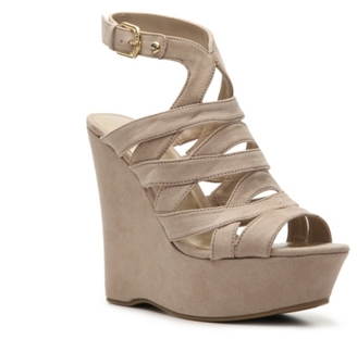 G by GUESS Hampton Wedge Sandal $69 thestylecure.com
