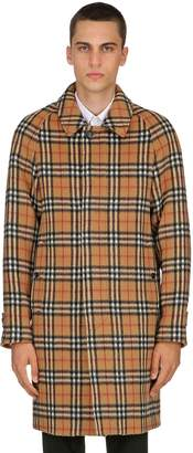Burberry Check Alpaca & Wool Coat