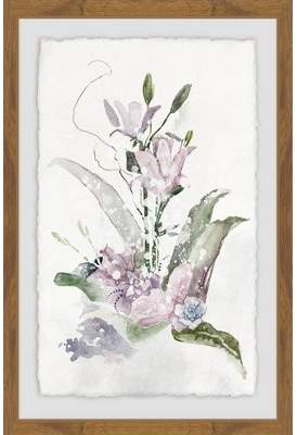Winston Porter 'Lavender Delight' Framed Watercolor Painting Print