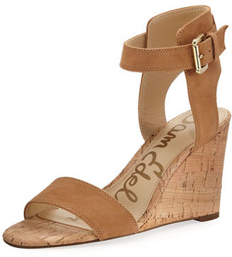 Sam Edelman Willow Suede Cork Wedge Sandal $110 thestylecure.com