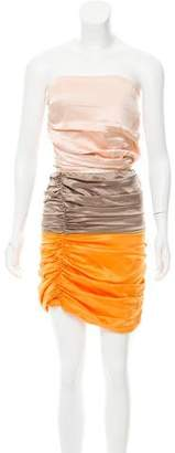Elisabetta Franchi Satin Colorblock Dress w/ Tags