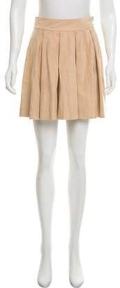 Alice + Olivia Suede Mini Skirt