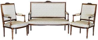 One Kings Lane Vintage Louis XVI-Style Salon Set - Chez Marie Antiques