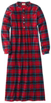 L.L. Bean L.L.Bean Scotch Plaid Flannel Nightgown