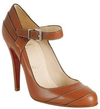 Christian Louboutin tan leather 'Wall Street' pumps