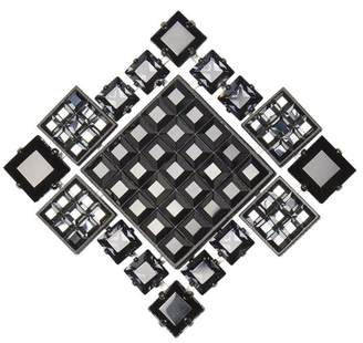 Lanvin Black Diamond Square Brooch/Necklace