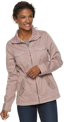 b44d0415809db Sonoma Goods For Life Petite SONOMA Goods for Life Twill Utility Jacket