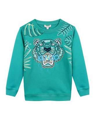 Kenzo Botanical Tiger Embroidered Sweatshirt, Size 2-4