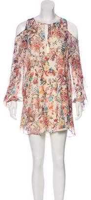 Haute Hippie Floral Print Mini Dress
