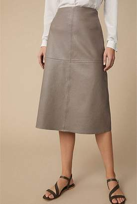 Witchery A-Line Leather Skirt