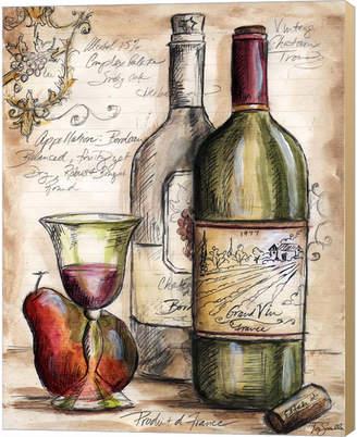 Metaverse Vintner's Journal Sketch I by Tre Sorelle Studios Canvas Art