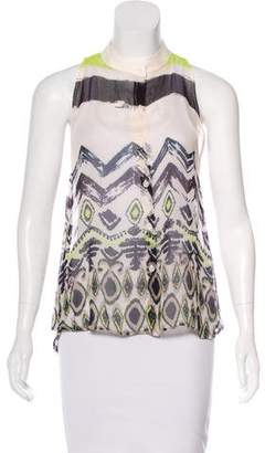 Sam&lavi Sam & Lavi Semi-Sheer Sleeveless Top