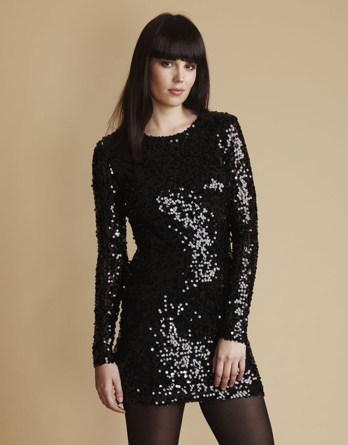 French Connection Womenswear fast lust sequin fitted dress