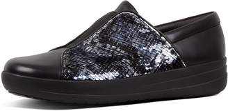FitFlop F-Sporty Ii Sequin Snake-Print Leather Slip-On Sneakers