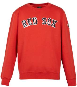 Marcelo Burlon County of Milan Red Sox Embroidered Cotton Sweatshirt - Mens - Red