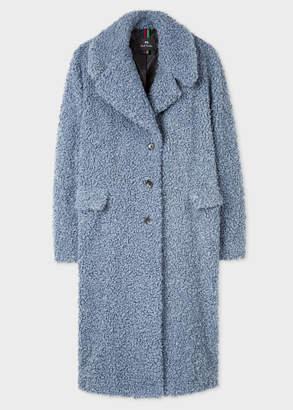 Paul Smith Women's Slate Blue Boucle Cocoon Coat