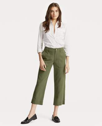 Ralph Lauren Straight Stretch Cotton Pant