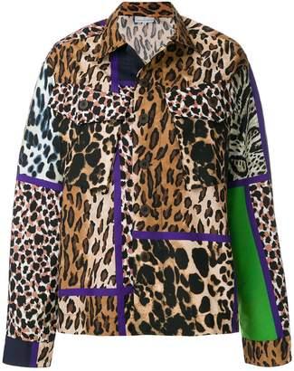 Pierre Louis Mascia Pierre-Louis Mascia leopard print shirt jacket