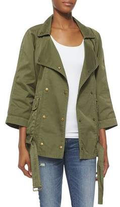 Current/Elliott The Infantry Jacket, Army $268 thestylecure.com