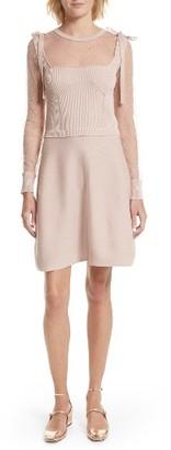 Women's Red Valentino Point D'Esprit Cotton Dress $695 thestylecure.com