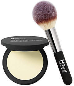 It Cosmetics Bye Bye Pores Pressed Silk Powderwith Luxe Brush