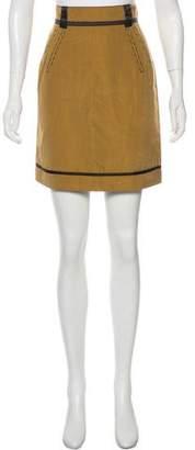 Zac Posen Z Spoke by Stripe Silk Skirt w/ Tags