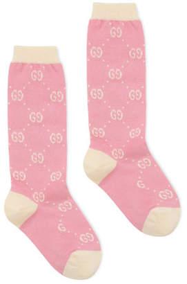 167cc9d08 Gucci Kid's GG Jacquard Socks, Size 6-12
