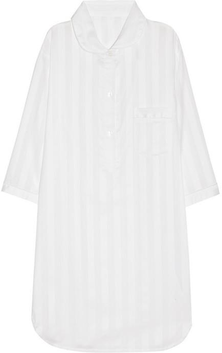Bodas Striped cotton nightshirt
