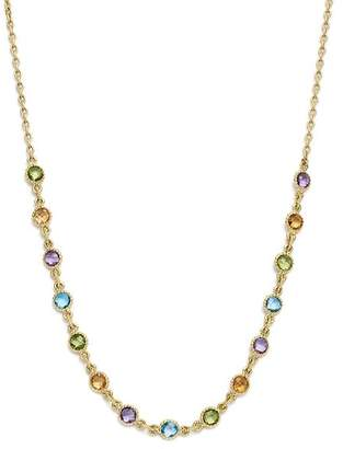 """Bloomingdale's Multi Gemstone Small Beaded Necklace in 14K Yellow Gold, 16"""" - 100% Exclusive"""