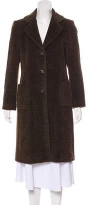 Luciano Barbera Lama & Wool-Blend Shearling Coat