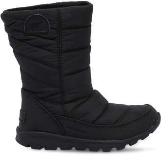 Sorel Waterproof Nylon Padded Snow Boots