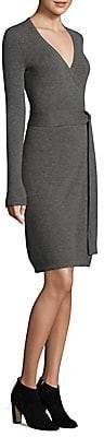 Diane von Furstenberg Women's Knitted Wrap Cashmere Dress