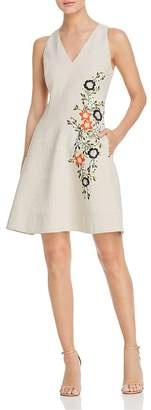 Elie Tahari Londa Sleeveless Embroidered Dress