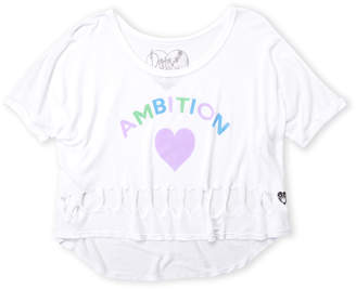 Dirtee Hollywood Girls 7-16) Ambition Distressed Hi-Low Tee