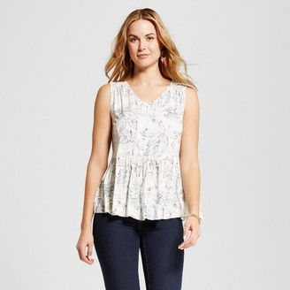 Merona Women's Knit Peplum Tank $17.99 thestylecure.com